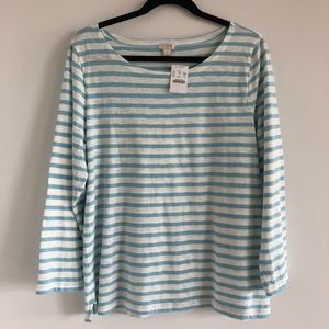 J. Crew Cotton Boatneck Top